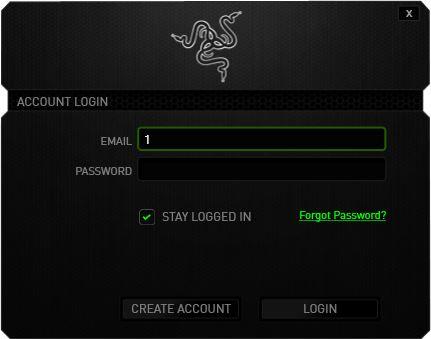La schermata di login al software, che permette il Cloud Hosting dei profili della periferica.