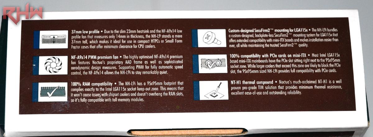 Sul lato destro, alcune delle features spiegate nei dettagli.