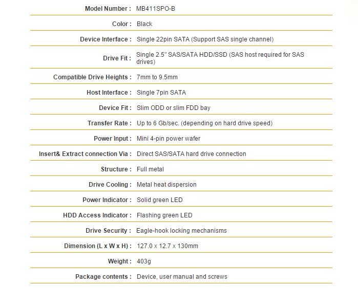 tougharmor MB411SPO-b specs