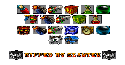 PlayStation - Crash Team Racing - Items