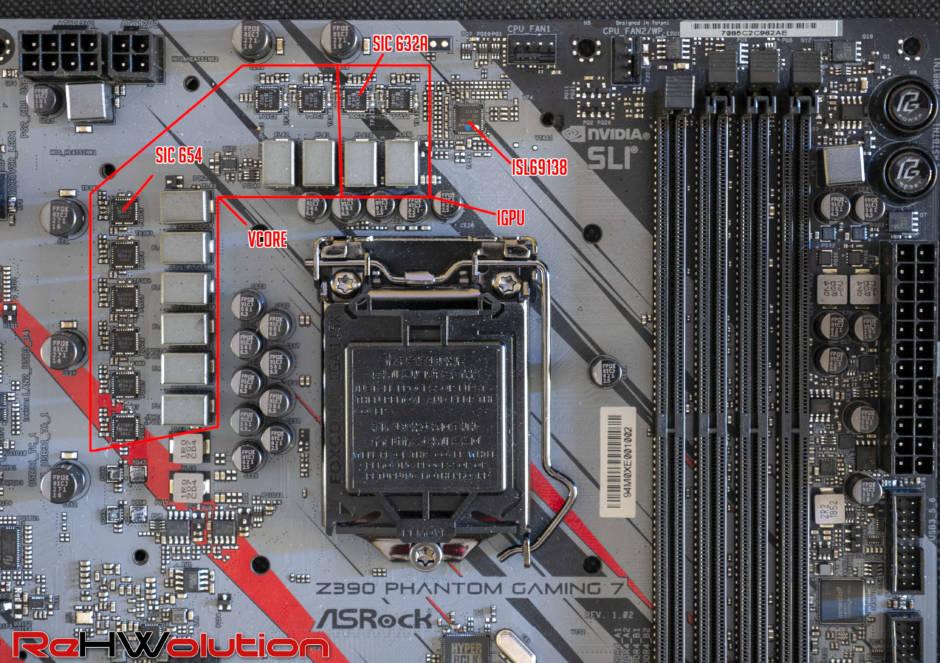 Z390 Phantom Gaming 7 - VRM Analysis - ReHWolution